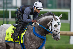 Derby 142 hopeful Creator with Abel Flores up were on the track for training, Sunday, May 01, 2016 at Churchill Downs in Louisville.