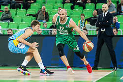 Marko Lukovic KK Sixt Primorska and Marko Simonovic of KK Cedevita Olimpija during basketball match between KK Cedevita Olimpija and KK Sixt Primorska in Round #17 of ABA League 2019/20, on January 26, 2020 in Arena Stozice, Ljubljana, Slovenia. Photo By Grega Valancic / Sportida