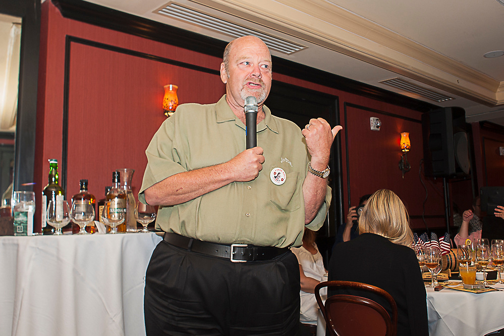 7th Generation Beam Master Distiller and Jim Beam's Great Grandson Fred Noe of Beam at The Great Whisk[E]y Debate on Thursday July 18, 2013 at the Bourbon House Restaurant on Bourbon Street in New Orleans. ©2013, Gustavo Escanelle, All Rights Reserved.