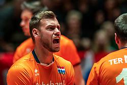 25-05-2019 NED: Golden League Netherlands - Croatia, Apeldoorn<br /> First match poule B: Dutch open Golden European League with 3-2 win over Croatia / Gijs Jorna #7 of Netherlands