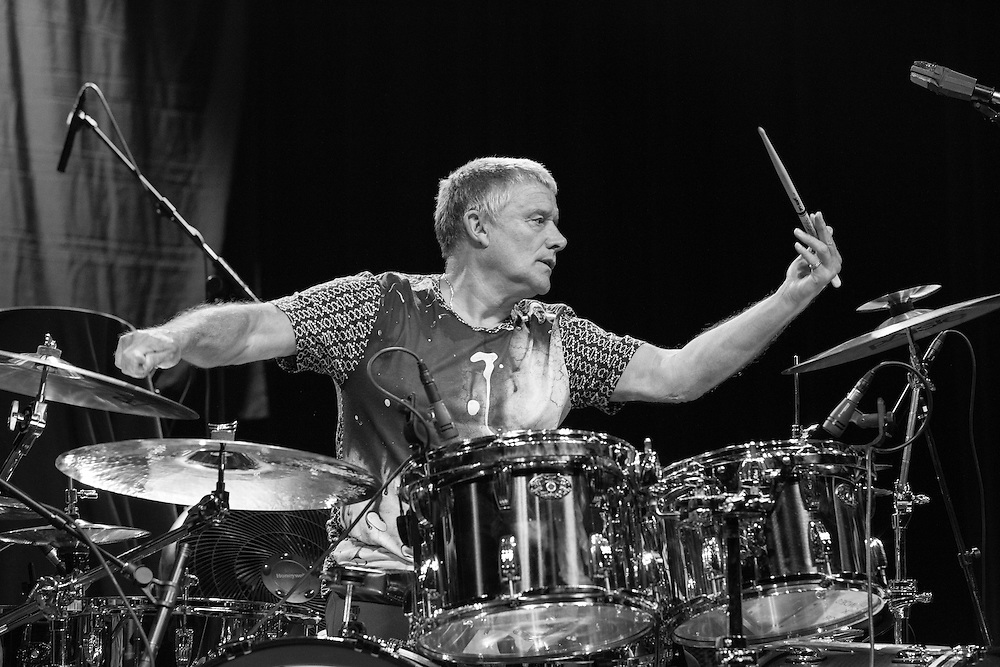 New York, NY: July 11, 2014 -  Emerson Lake & Palmer's Carl Palmer on stage in New York CIty opening for Procol Harum on July 11, 2014. Photo: Rick Gilbert/SkyhookEntertainment