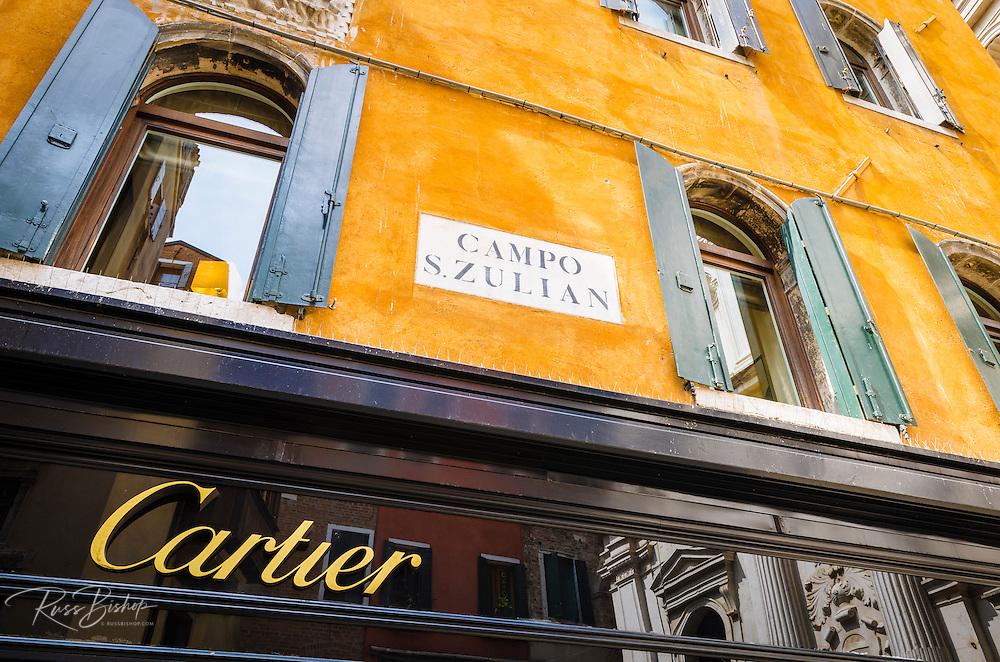 The Cartier store, Venice, Veneto, Italy
