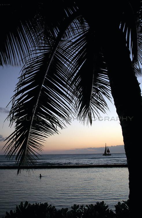 Hawaii and Hawaiian Islands the beach, the sand, the trees and beautiful blue green water. Hawaii and Hawaiian Islands the beach, the sand, the trees and beautiful blue green water.