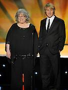 "Kathy Bates and Owen Wilson present a clip for ""Midnight in Paris."" The 18th Annual Screen Actors Guild Awards were held at the Shrine Exposition Center in Los Angeles, CA 1/29/2012(John McCoy/Staff Photographer)"