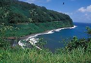 Coastline and cliff near Hana, Maui, Hawaii