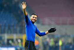 November 26, 2019, Milano, Italy: jose luis palomino (atalanta) greets fansduring Tournament round - Atalanta vs Dinamo Zagreb , Soccer Champions League Men Championship in Milano, Italy, November 26 2019 - LPS/Francesco Scaccianoce (Credit Image: © Francesco Scaccianoce/LPS via ZUMA Wire)