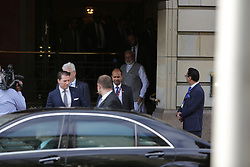May 29, 2017 - Berlin, Germany - Narendra Modi leaves the Hotel Adlon through the back entrance. The Prime Minister of India, Narendra Modi, has started his visit to Germany, which is part of a four country trip, which also will see him traveling to Spain, France and Russia. (Credit Image: © Michael Debets/Pacific Press via ZUMA Wire)
