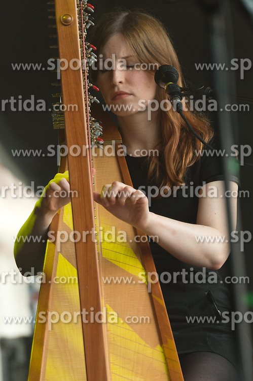 Irish indie folk band from Dublin - Villagers - Mali Lewis (harp), performing live in concert for the concert series, LIVE AT CHELSEA at the The Royal Hospital Chelsea, London, United Kingdom, Date: 12/06/2015. EXPA Pictures &copy; 2015, PhotoCredit: EXPA/ Photoshot/ Tim Holt<br /> <br /> *****ATTENTION - for AUT, SLO, CRO, SRB, BIH, MAZ only*****