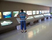 Display in Casa de los Volcanes volcanic study centre, Lanzarote, Canary island, Spain