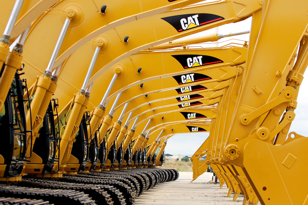 Caterpillar 330C excavators produced at the Caterpillar plant in Aurora, Illinois.