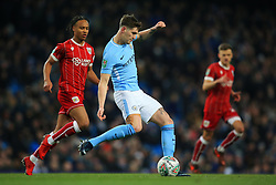 John Stones of Manchester City and Bobby Reid of Bristol City - Mandatory by-line: Matt McNulty/JMP - 09/01/2018 - FOOTBALL - Etihad Stadium - Manchester, England - Manchester City v Bristol City - Carabao Cup Semi-Final First Leg