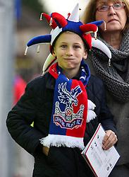 Crystal Palace fan outside Selhurst Park - Mandatory byline: Jason Brown/JMP - 07966386802 - 28/12/2015 - FOOTBALL - London - Selhurst Park - Crystal Palace v Swansea City - Barclays Premier League