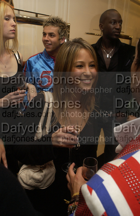 Rachel Stevens, Camilla Morton book 'How To Walk In High Heels: The Girl's Guide To Everything.' launch party. Dior, 17 September 2005 . Saturday 17 September 2005.  ONE TIME USE ONLY - DO NOT ARCHIVE  © Copyright Photograph by Dafydd Jones 66 Stockwell Park Rd. London SW9 0DA Tel 020 7733 0108 www.dafjones.com