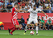 Benzema of Real Madrid in action during the spanish league, La Liga, football match between Girona and Real Madrid CF on August 26, 2018 at Montilivi stadium in Girona, Spain, Photo Irina RH / SpainProSportsImages / DPPI / ProSportsImages / DPPI
