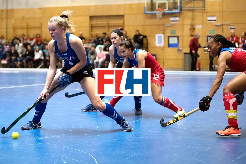 BERLIN - Indoor Hockey World Cup<br /> United States - Namibia<br /> foto: Corinne Zanolli and Magreth Mengo <br /> WORLDSPORTPICS COPYRIGHT FRANK UIJLENBROEK
