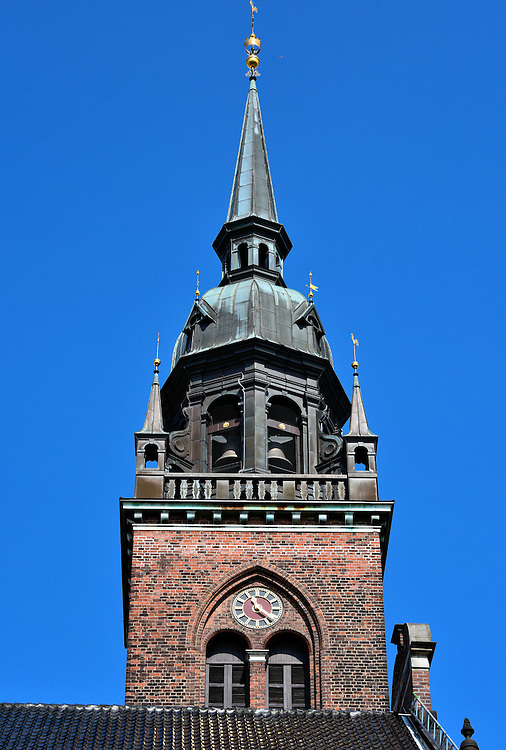 Bell Tower on Church of the Holy Ghost in Copenhagen, Denmark<br />