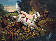 Mazeppa, Byron's poem published 1819, based on passage in Voltaire's 'Charles XII'. Mazeppa, discovered in intrigue, is stripped and bound to a wild Ukrainian horse which was lashed into madness. It galloped until it reached plains of Ukraine and there dropped dead. Mazeppa, near death, was rescued by Cossacks.