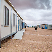 Hayam's Unicef run school. Zaatari camp for Syrian refugees, Jordan, March 2014.