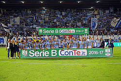 """Foto Filippo Rubin<br /> 18/05/2017 Ferrara (Italia)<br /> Sport Calcio<br /> Spal vs Bari - Campionato di calcio Serie B ConTe.it 2016/2017 - Stadio """"Paolo Mazza""""<br /> Nella foto: La Spal festeggia<br /> <br /> Photo Filippo Rubin<br /> May 18, 2016 Ferrara (Italy)<br /> Sport Soccer<br /> Spal vs Bari - Italian Football Championship League B ConTe.it 2016/2017 - """"Paolo Mazza"""" Stadium <br /> In the pic: Spal celebrate"""