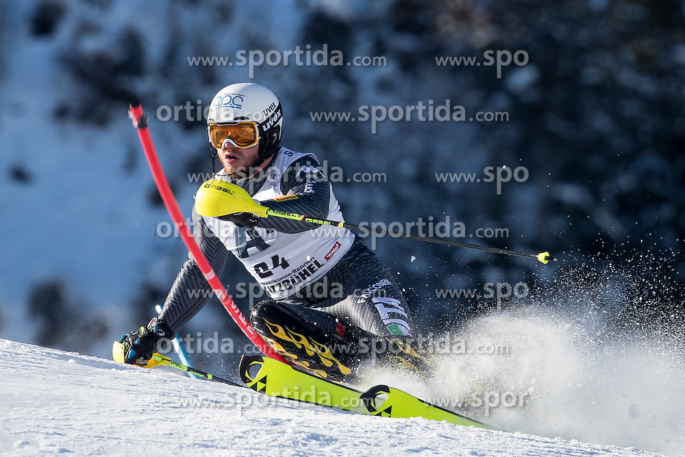 22.01.2017, Hahnenkamm, Kitzbühel, AUT, FIS Weltcup Ski Alpin, Kitzbuehel, Slalom, Herren, 1. Lauf, im Bild Giuliano Razzoli (ITA) // Giuliano Razzoli of Italy in action during his 1st run of men's Slalom of FIS ski alpine world cup at the Hahnenkamm in Kitzbühel, Austria on 2017/01/22. EXPA Pictures © 2017, PhotoCredit: EXPA/ Johann Groder