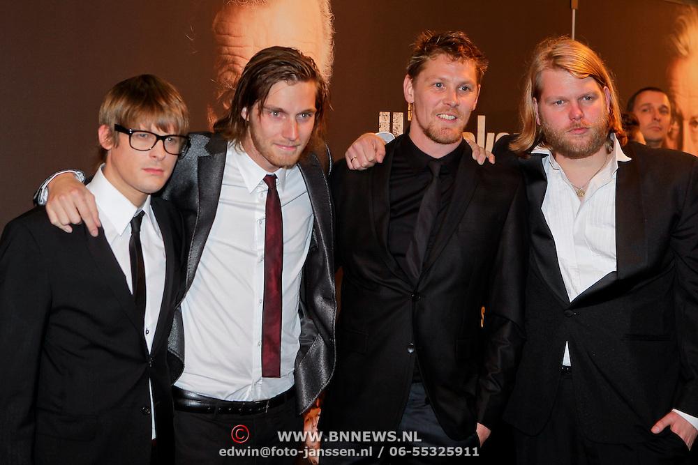NLD/Amsterdam/20111017 - Premiere De Heineken Ontvoering, Teun Kuilboer, Reinout Scholten van Asschat, Gijs Naber en Korneel Evers