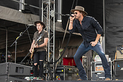June 20, 2018 - Oshkosh, Wisconsin, U.S - BILL SATCHER and MICHAEL HOBBY of A Thousand Horses during Country USA Music Festival at Ford Festival Park in Oshkosh, Wisconsin (Credit Image: © Daniel DeSlover via ZUMA Wire)