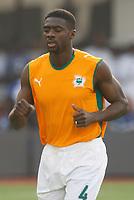 Photo: Steve Bond/Richard Lane Photography.<br />Nigeria v Ivory Coast. Africa Cup of Nations. 21/01/2008. Kolo Toure of Ivory Coast & Arsenal warms up