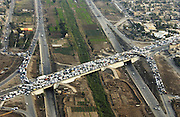 An aerial photograph of Baghdad, Iraq, Dec. 1, 2003. (Photo by Stacy L. Pearsall)
