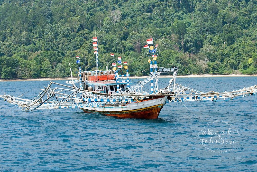 Fishing boats off Padang, Sumatra, Indonesia