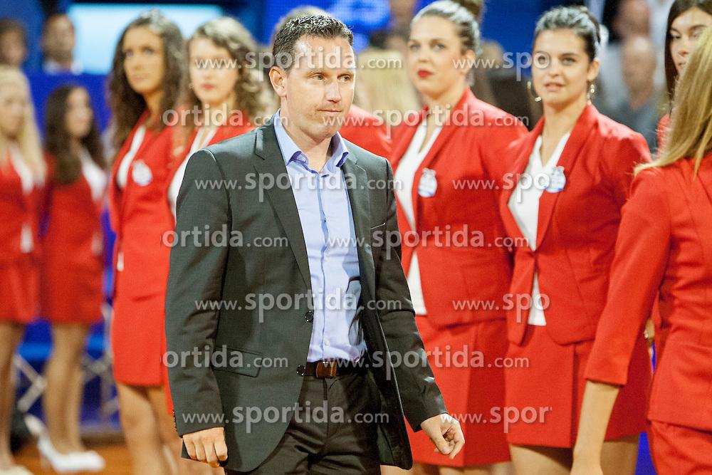 Vanja Bozickovic, tournament director during flower ceremony after final of singles at 25th Vegeta Croatia Open Umag, on July 27, 2014, in Stella Maris, Umag, Croatia. Photo by Urban Urbanc / Sportida
