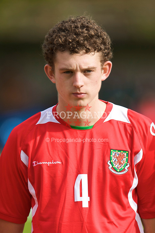HAVERFORDWEST, WALES - Saturday, October 3, 2009: Wales' Max Penk lines-up before the UEFA Under-17 Championship Qualifying Round Group 12 match against Russia at Bridge Meadow Stadium (Pic by David Rawcliffe/Propaganda)