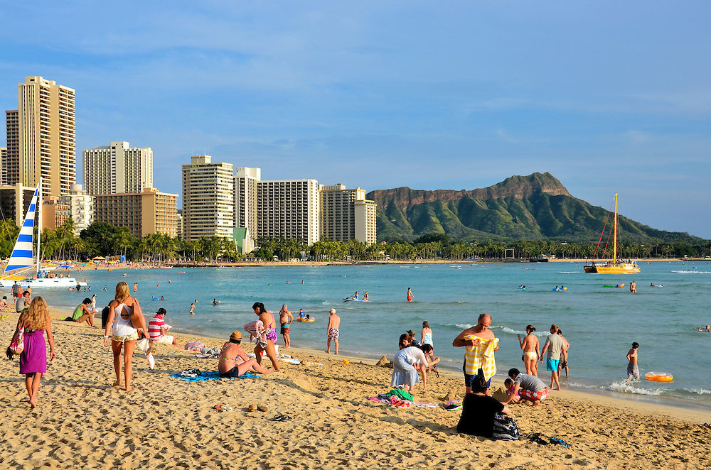 Royal Hawaiian Beach At Waikiki In Honolulu Oahu Hawaiibr