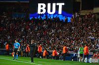 Illustration Tableau Affichage But - Laurent BLANC - 15.04.2015 - Paris Saint Germain / Barcelone - 1/4Finale Aller Champions League<br />Photo : Dave Winter / Icon Sport