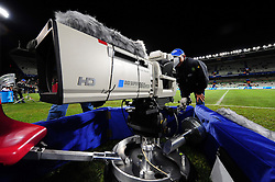 TV camera  during the Semi Final soccer match of the 2009 Confederations Cup between Spain and the USA played at the Freestate Stadium,Bloemfontein,South Africa on 24 June 2009.  Photo: Gerhard Steenkamp/Superimage Media.