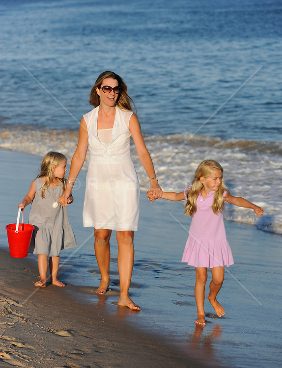 mother and daughters enjoying time together in The Hamptons