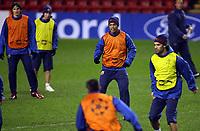 Photo: Paul Thomas.<br />Barcelona Press Conference. UEFA Champions League. 05/03/2007.<br /><br />Ronaldinho of Barcelona.