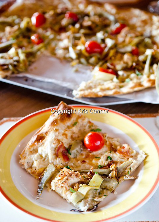 Maryland Blue Crab Pizza at Fiorella Pizzeria at National Harbor in Oxon Hill, Md.