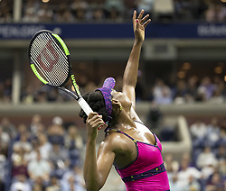 August 31, 2018 - New York, New York, United States - Venus Williams of USA serves during US Open 2018 3rd round match against Serena Williams of USA at USTA Billie Jean King National Tennis Center (Credit Image: © Lev Radin/Pacific Press via ZUMA Wire)