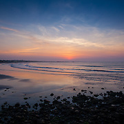 Today's  winter sunrise at Narragansett Town Beach,  .  May  30, 2013.