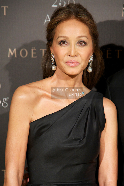 Isabel Preysler attends the photocall for the 250th Anniversary of Moet & Chandon at the French Embassy in Madrid