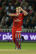 James Faulkner during the NatWest T20 Blast final match between Northants Steelbacks and Lancashire Lightning at Edgbaston, Birmingham, United Kingdom on 29 August 2015. Photo by David Vokes.