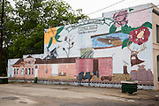 Painted mural in the small rural town of Marshallville, Georgia.