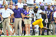 FORT WORTH, TX - SEPTEMBER 13:  KJ Maye #1 of the Minnesota Golden Gophers breaks free against the TCU Horned Frogs on September 13, 2014 at Amon G. Carter Stadium in Fort Worth, Texas.  (Photo by Cooper Neill/Getty Images) *** Local Caption *** KJ Maye