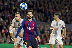 October 24, 2018 - Barcelona, Catalonia, Spain - Gerard Piqué during the UEFA Champion Leage match between FC Barcelona and Internazionale Milano at Camp Nou Stadium in Barcelona, Catalonia, Spain on October 24, 2018  (Credit Image: © Miquel Llop/NurPhoto via ZUMA Press)