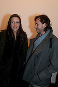 CHARLOTTE STOCKDALE; MARC NEWSON, 'Engagement' exhibition of work by Jennifer Rubell. Stephen Friedman Gallery. London. 7 February 2011. -DO NOT ARCHIVE-© Copyright Photograph by Dafydd Jones. 248 Clapham Rd. London SW9 0PZ. Tel 0207 820 0771. www.dafjones.com.