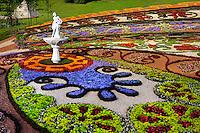 Stock photo of Artistic landscape gardening Colorful pattern made from flowers Landscape gardening Ukraine Kiev 2007