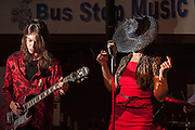 Shawn Touhill (on guitar) and Monica Lynne Chase (on vocals) of The Bosom Band performing at The Bus Stop Music Cafe in Pitman, NJ.