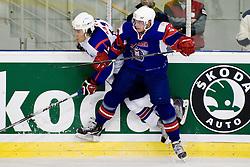 Jan Mursak of Slovenia at IIHF Ice-hockey World Championships Division I Group B match between National teams of Slovenia and Korea, on April 21, 2010, in Tivoli hall, Ljubljana, Slovenia. (Photo by Matic Klansek Velej / Sportida)