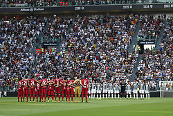 August 19, 2017 - Turin, Italy - Juventus and Cagliari Team before  the Serie A football match n.1 JUVENTUS - CAGLIARI on 19/08/2017 at the Allianz Stadium in Turin, Italy. (Credit Image: © Matteo Bottanelli/NurPhoto via ZUMA Press)
