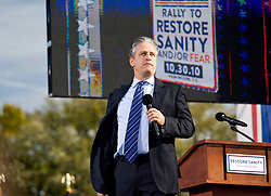 "In 2010 Political Rhetoric was at a pressure point. Just before the general election Jon Stewart and Steve Colbert stagged ""Rally for Sanity"" on the Mall in Washington, DC. Thousands gathered for the event."
